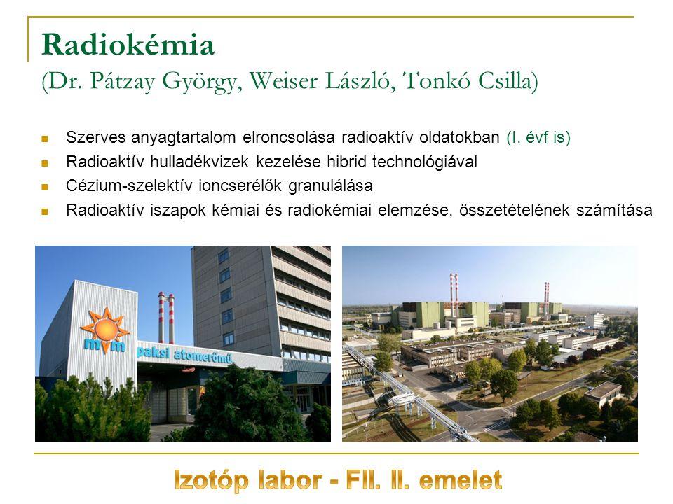 Radiokémia (Dr.