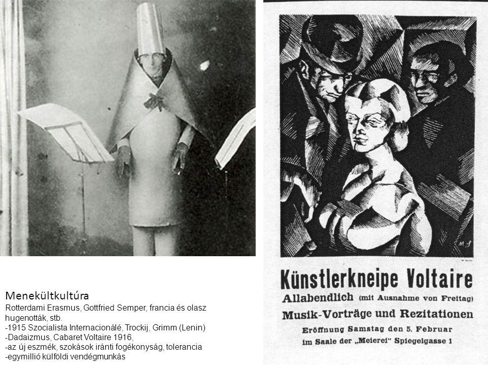 Menekültkultúra Rotterdami Erasmus, Gottfried Semper, francia és olasz hugenották, stb.