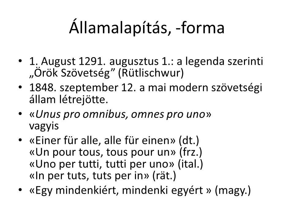 Államalapítás, -forma 1.August 1291.