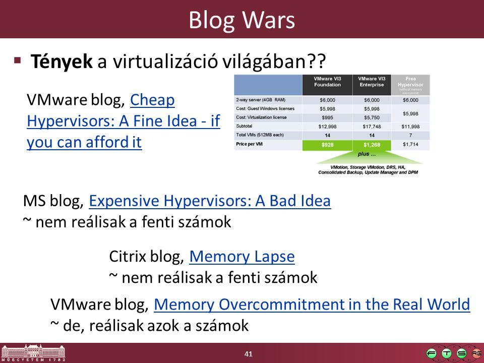 Blog Wars  Tények a virtualizáció világában?.