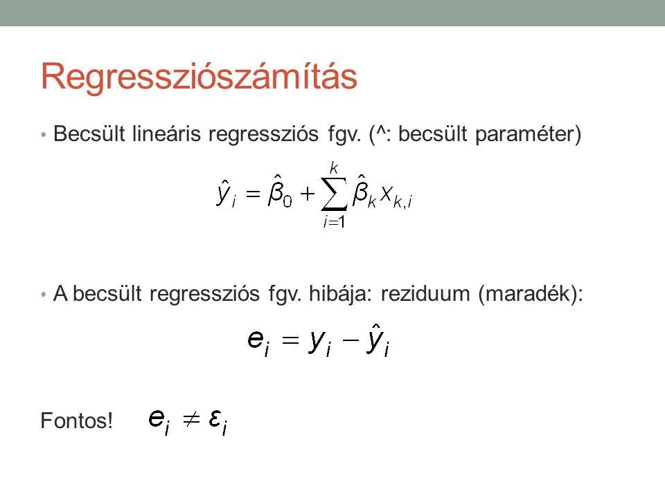 Példa2 – Kétváltozós regresszió vill.en.=f(GDP, árindex) létezik?