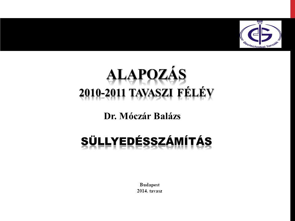 Budapest 2014. tavasz Dr. Móczár Balázs