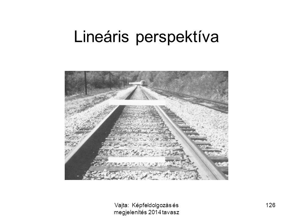 126 Lineáris perspektíva Vajta: Képfeldolgozás és megjelenítés 2014 tavasz