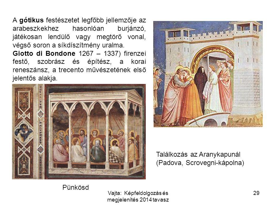 A gótikus festészetet legfőbb jellemzője az arabeszkekhez hasonlóan burjánzó, játékosan lendülő vagy megtörő vonal, végső soron a síkdíszítmény uralma