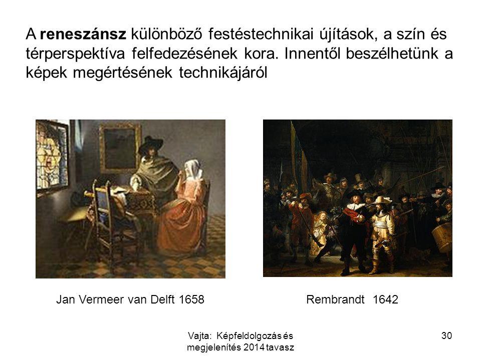 A reneszánsz különböző festéstechnikai újítások, a szín és térperspektíva felfedezésének kora. Innentől beszélhetünk a képek megértésének technikájáró