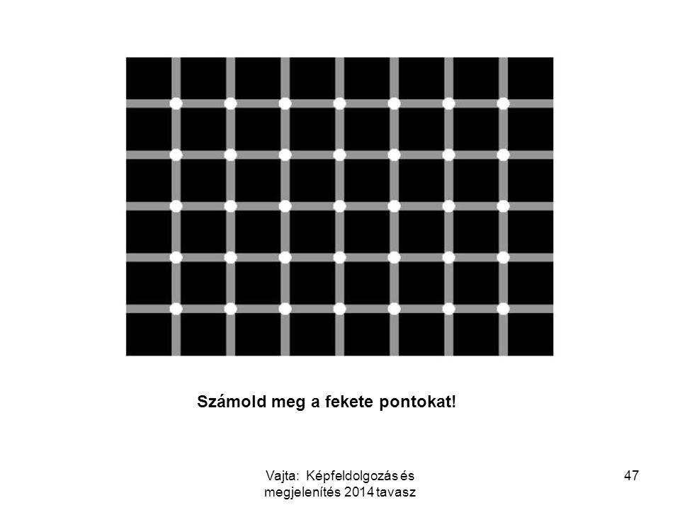 47 Számold meg a fekete pontokat! Vajta: Képfeldolgozás és megjelenítés 2014 tavasz