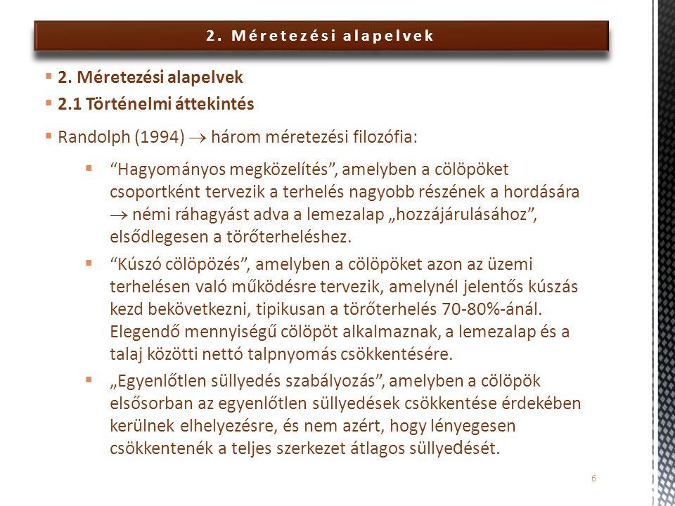 6.Közelítő számítógépes módszerek – Példa 2  Terhelések:  Konc.