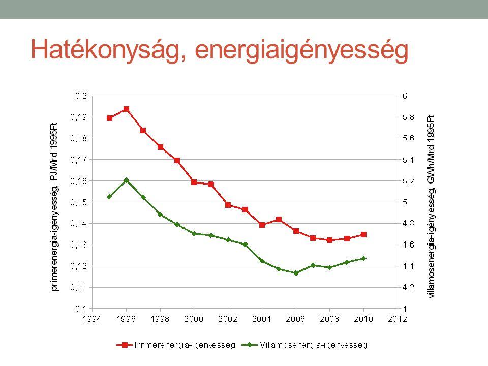 Hatékonyság, energiaigényesség