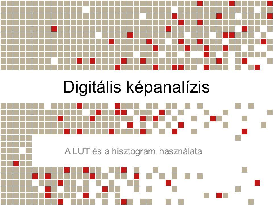Digitális képanalízis A LUT és a hisztogram használata