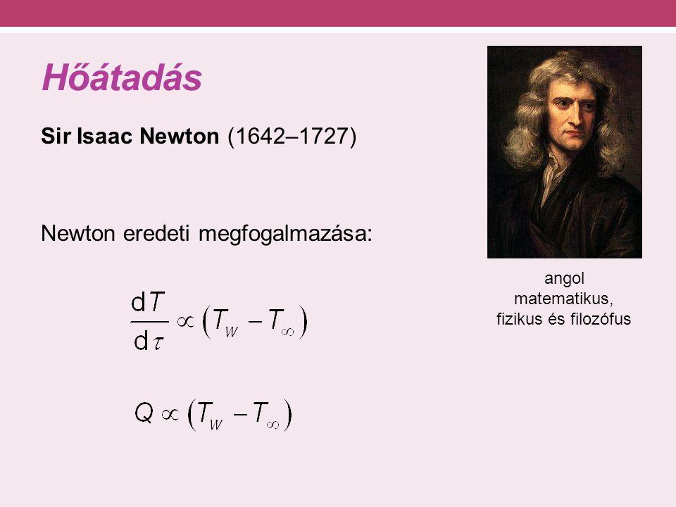 Hősugárzás Hősugárzás felületek között Matematikai leírás: Planck- és Stefan- Boltzmann-egyenlet Közvetítő közeg nem szükséges hullámhossz