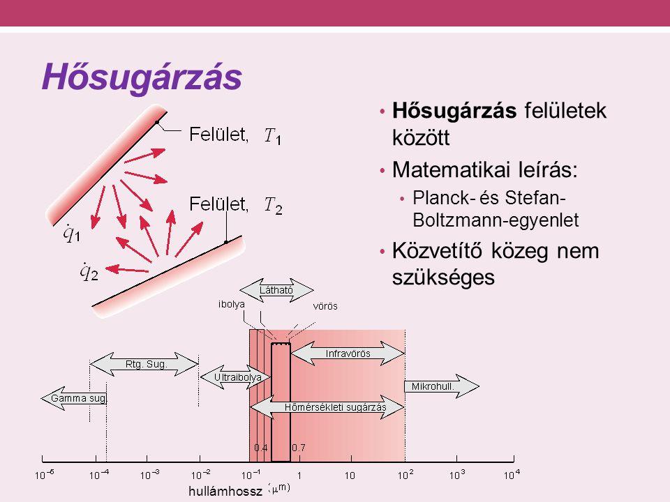 Időben változó hővezetés Peremfeltételek