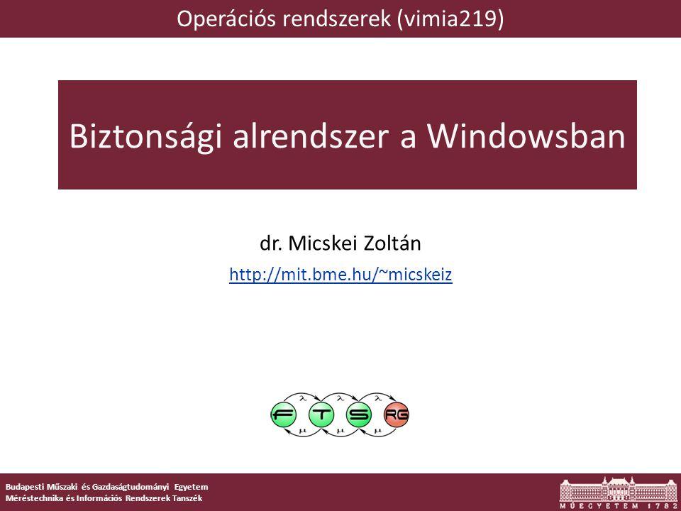 Objektum szintű hozzáférési listák Windowsos objektum Pl.