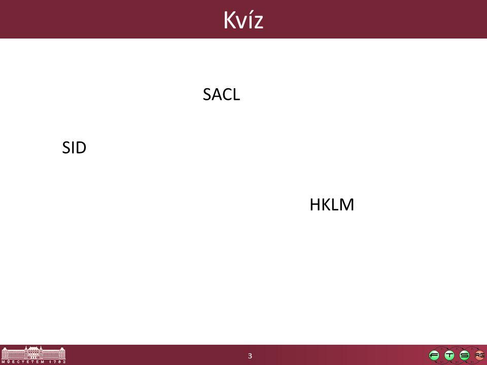 Kvíz SID HKLM 3 SACL