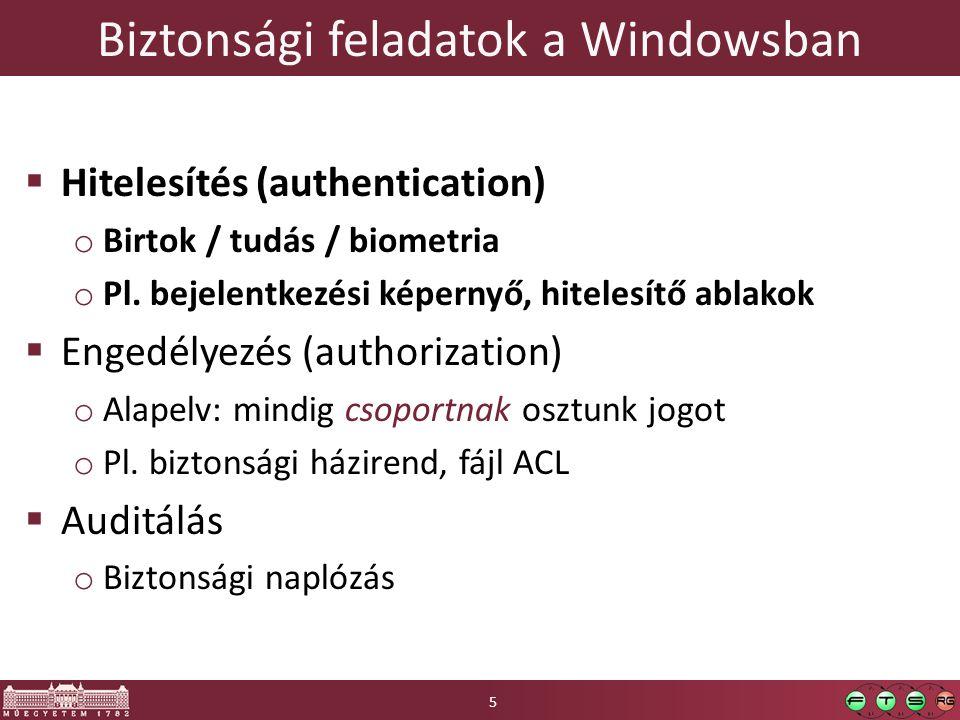Biztonsági entitások 6