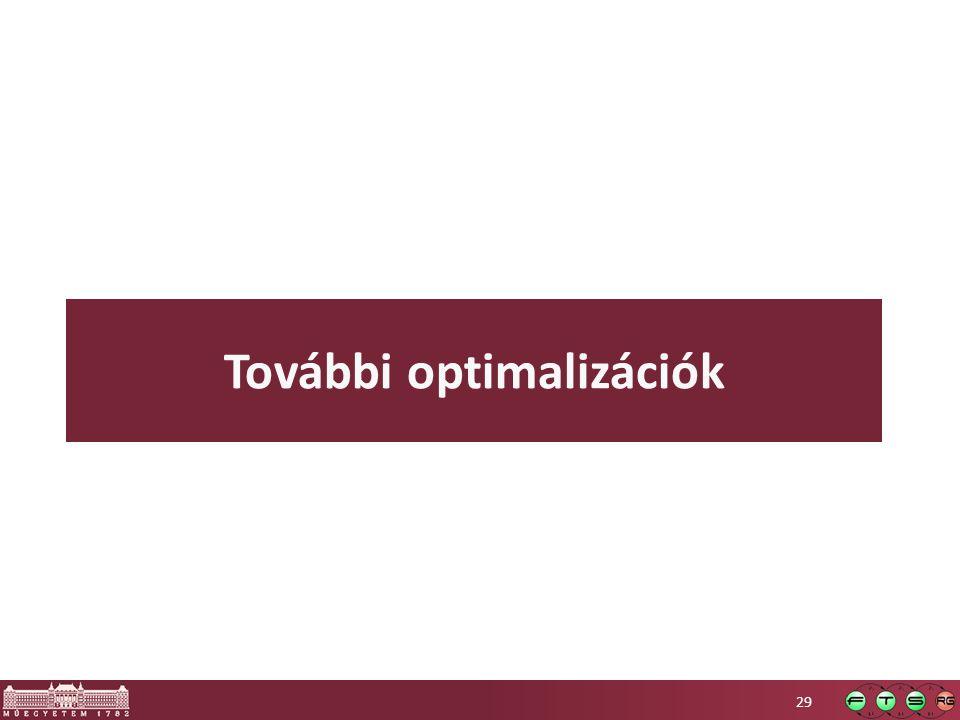 További optimalizációk 29