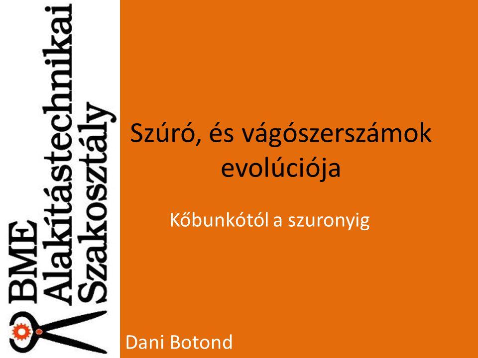 Szúró, és vágószerszámok evolúciója Kőbunkótól a szuronyig Dani Botond