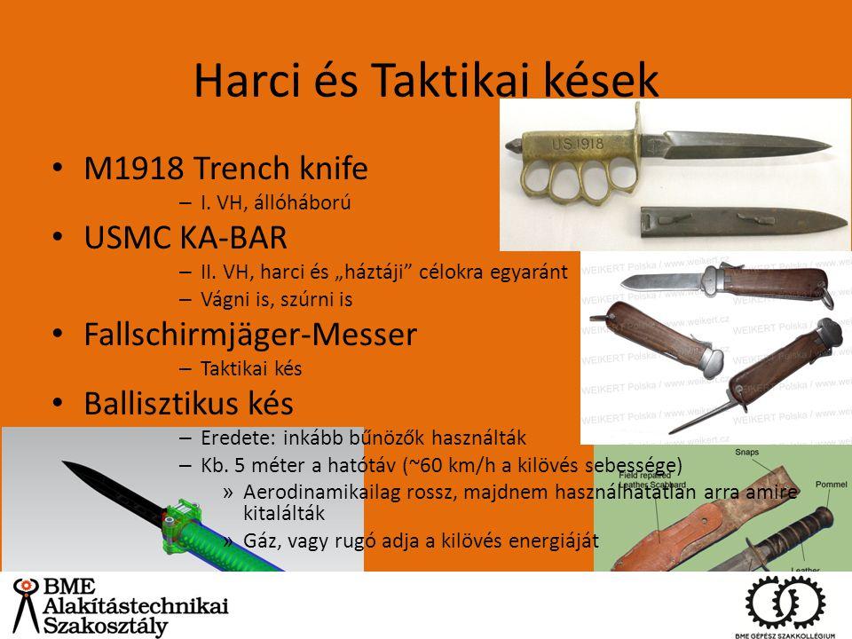 """Harci és Taktikai kések M1918 Trench knife – I. VH, állóháború USMC KA-BAR – II. VH, harci és """"háztáji"""" célokra egyaránt – Vágni is, szúrni is Fallsch"""