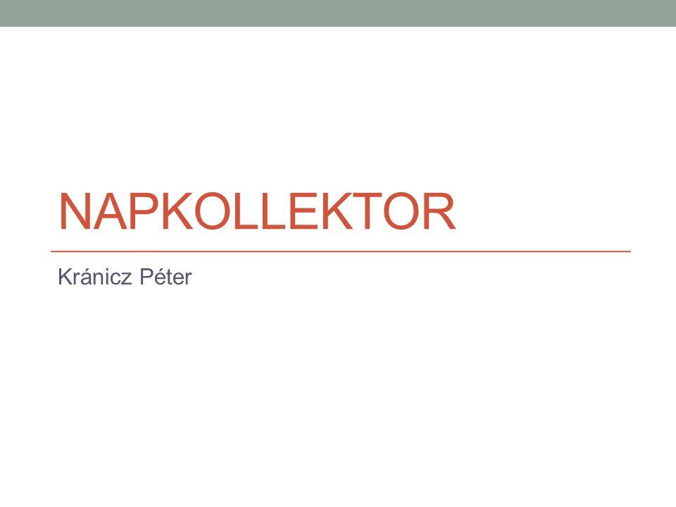 NAPKOLLEKTOR Kránicz Péter