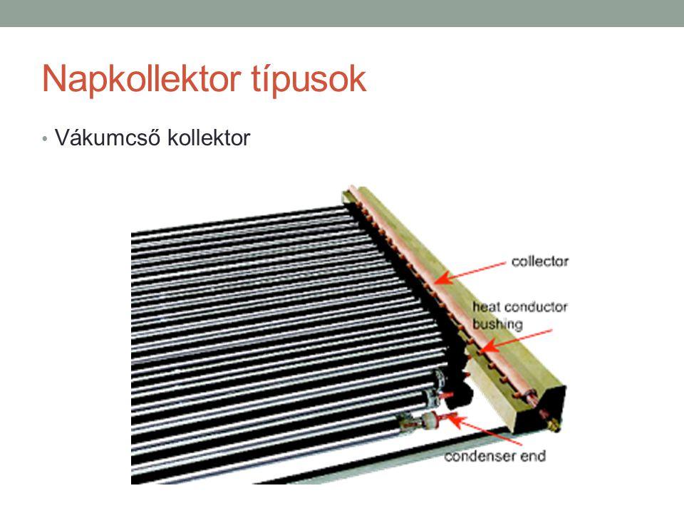 Napkollektor típusok Vákumcső kollektor
