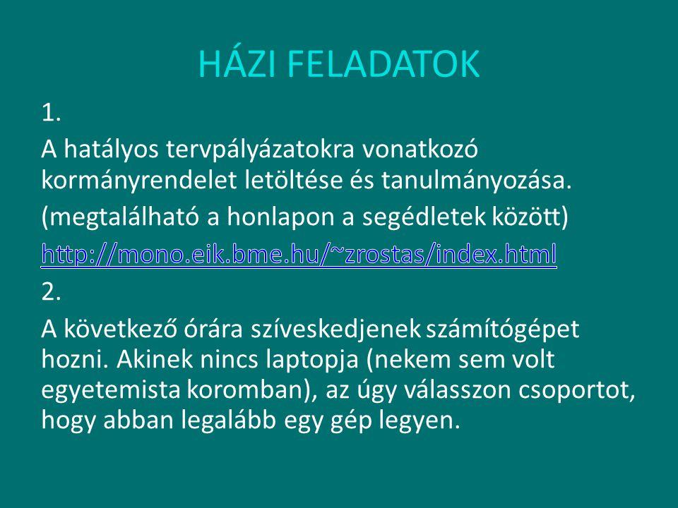 HÁZI FELADATOK