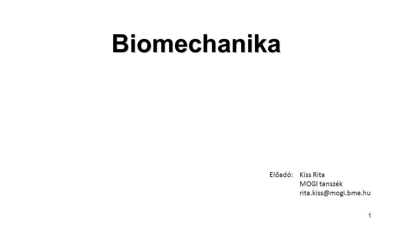 HétDátumTémakör 1.02.12.Bevezetés, történeti áttekintés 2.02.19.Csípőízület biomechanikája 3.02.26.Térdízület biomechanikája 4.03.05.Lábízületek és boka biomechanikája 5.03.12.Vállízület biomechanikája 6.03.19.Könyök biomechanikája 7.03.26.Zh (45 perc), Gerinc biomechanikája 8.04.02.Gerinc biomechanikája II.