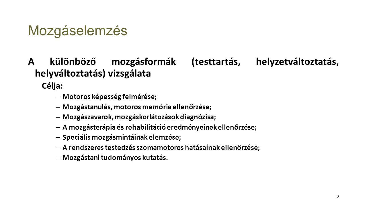 3 Fajtái Kinematika: anyagi pont (anatómiai pont, test testszegmentum súlypontja) helyzetének meghatározása a tér valamely viszonyítási rendszerében (pld.