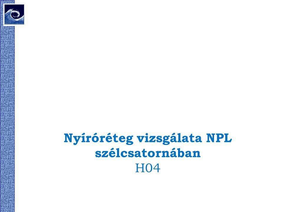 Nyíróréteg vizsgálata NPL szélcsatornában H04