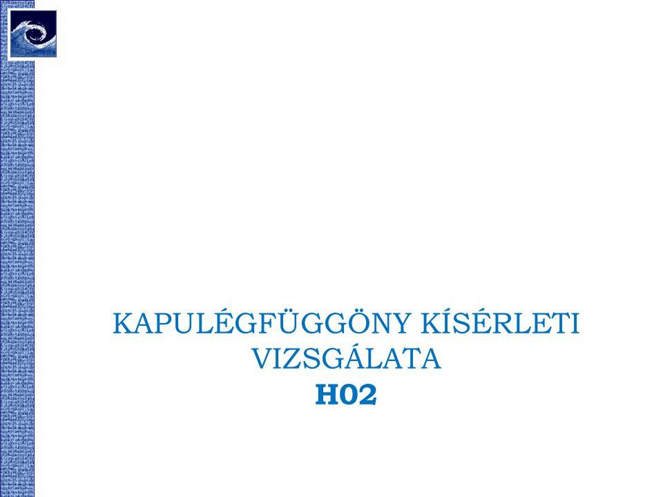KAPULÉGFÜGGÖNY KÍSÉRLETI VIZSGÁLATA H02