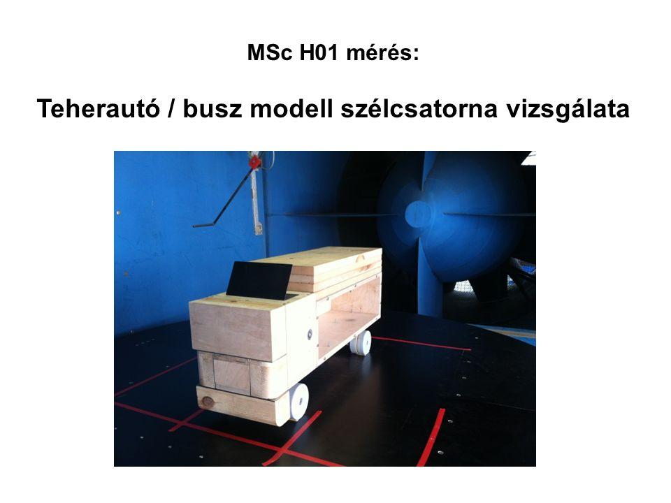 MSc H01 mérés: Teherautó / busz modell szélcsatorna vizsgálata