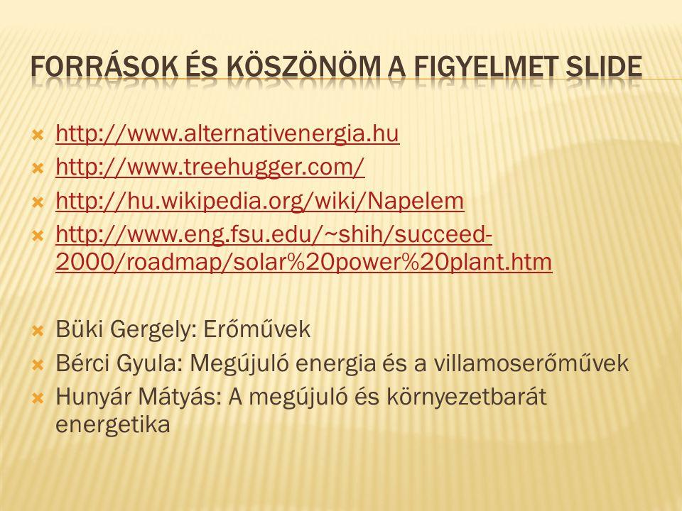  http://www.alternativenergia.hu http://www.alternativenergia.hu  http://www.treehugger.com/ http://www.treehugger.com/  http://hu.wikipedia.org/wi