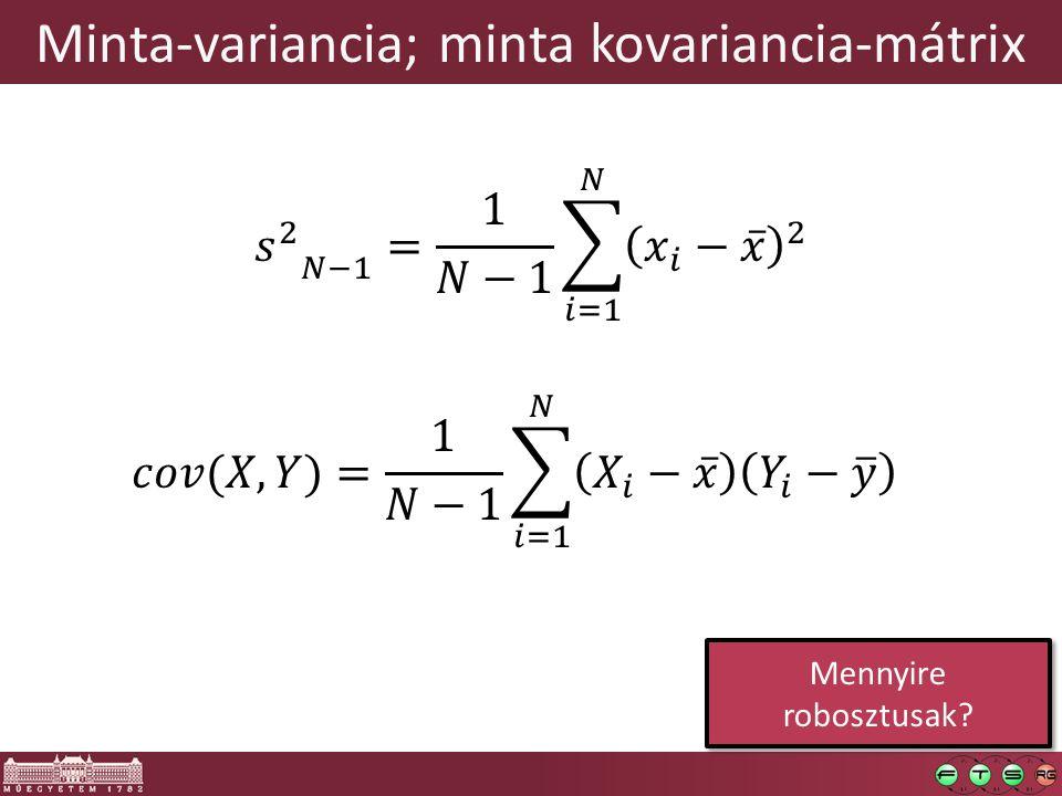 Minta-variancia; minta kovariancia-mátrix Mennyire robosztusak?