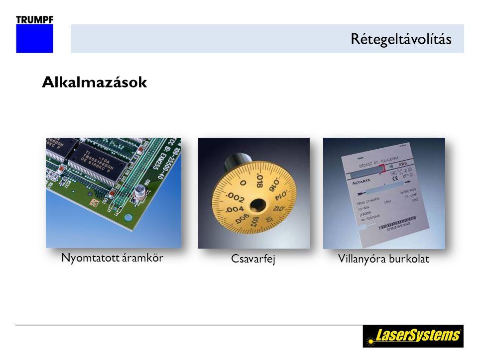 Rétegeltávolítás Alkalmazások Nyomtatott áramkör CsavarfejVillanyóra burkolat