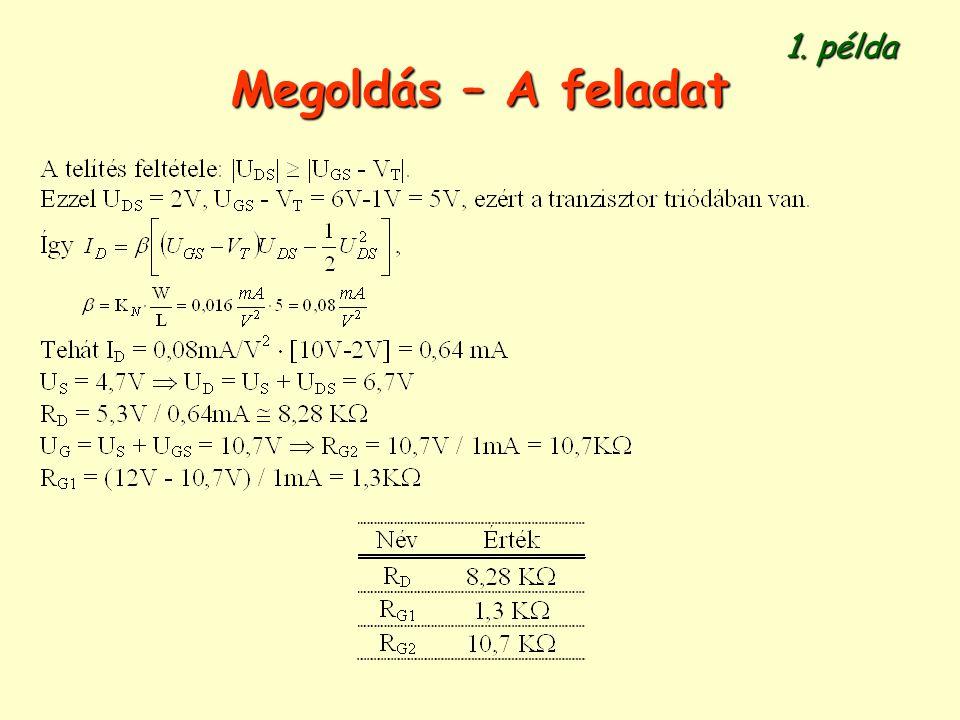 Megoldás – A feladat 1. példa