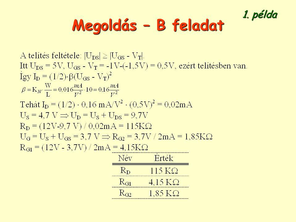Megoldás – B feladat 1. példa
