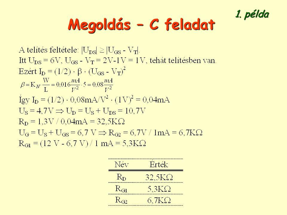 Megoldás – C feladat 1. példa