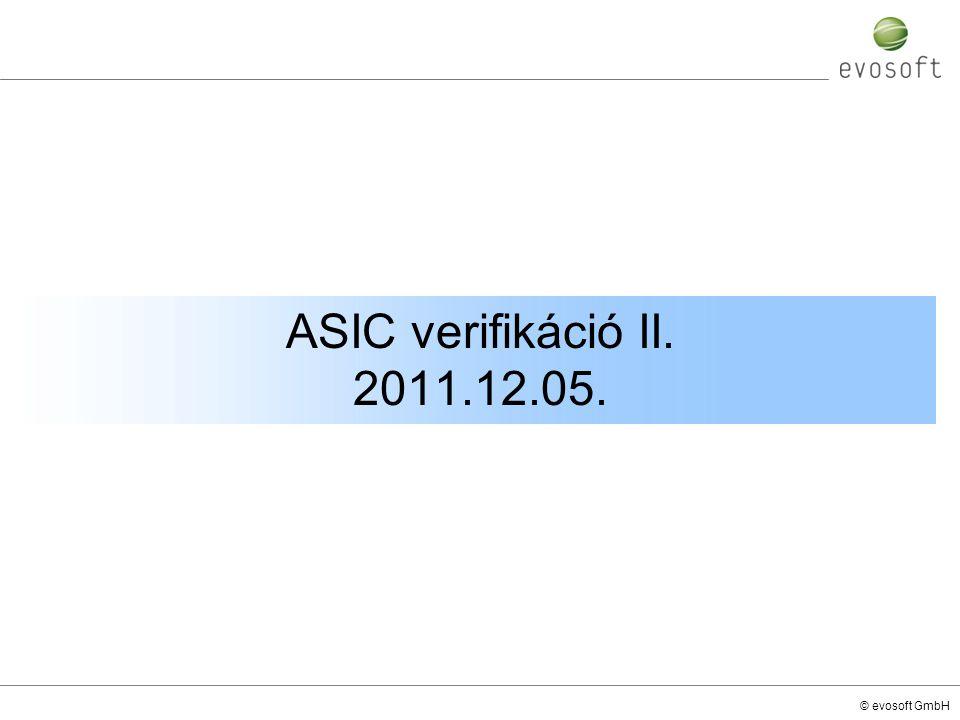 © evosoft GmbH ASIC verifikáció II. 2011.12.05.