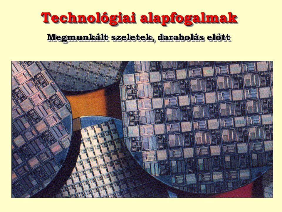 Technológiai alapfogalmak Megmunkált szeletek, darabolás előtt Technológiai alapfogalmak Megmunkált szeletek, darabolás előtt