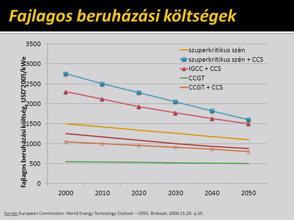 Forrás: European Commission: World Energy Technology Outlook – 2050, Brüsszel, 2006.11.29. p.25.
