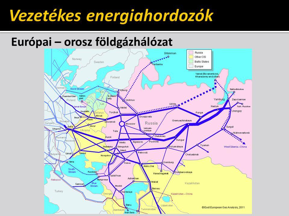 Európai – orosz földgázhálózat