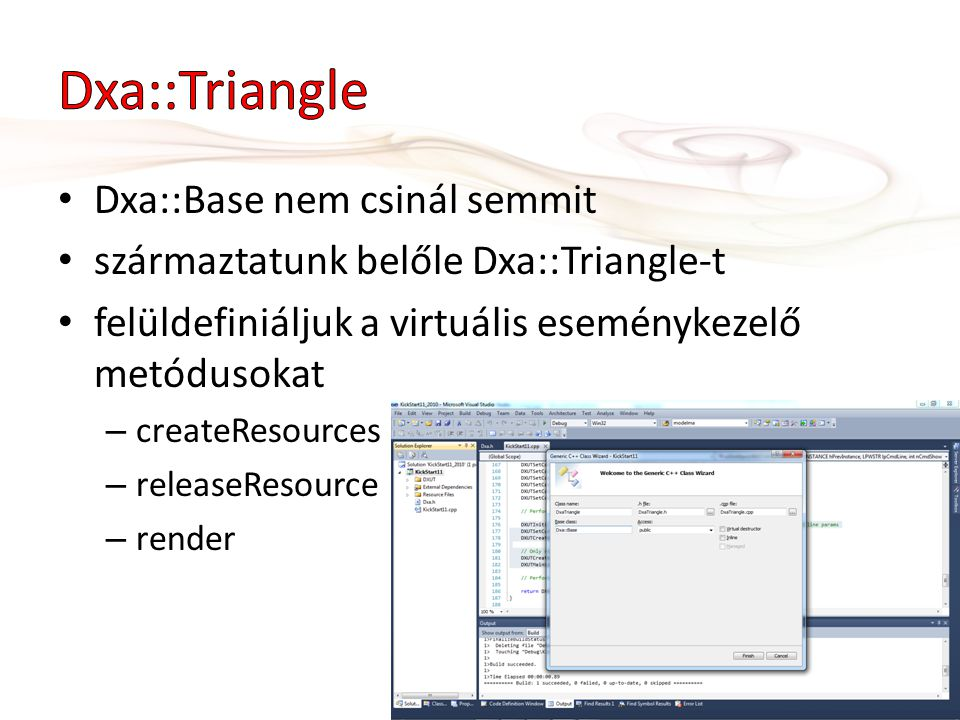 #pragma once #include dxa.h namespace Dxa { class Triangle : public Dxa::Base { public: Triangle(ID3D11Device* device); HRESULT createResources(); HRESULT releaseResources(); void render(ID3D11DeviceContext* context); }; } #2.0