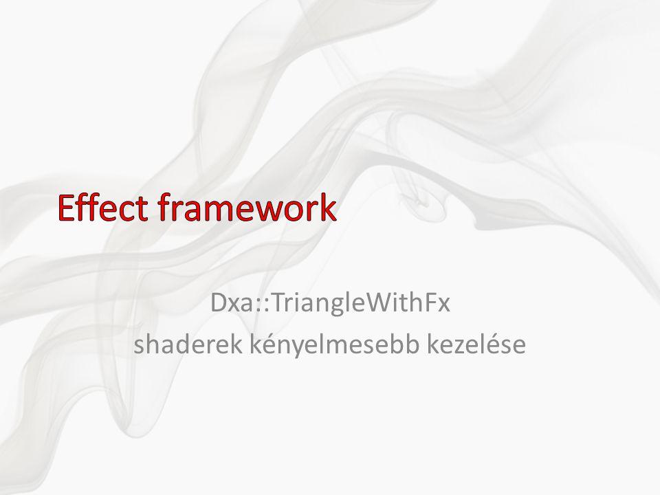 Dxa::TriangleWithFx shaderek kényelmesebb kezelése