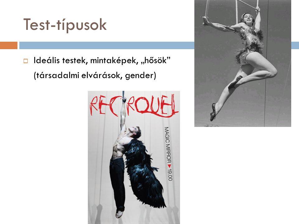 """Test-típusok  Ideális testek, mintaképek, """"hősök"""" (társadalmi elvárások, gender)"""
