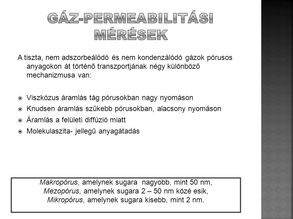 A tiszta, nem adszorbeálódó és nem kondenzálódó gázok pórusos anyagokon át történő transzportjának négy különböző mechanizmusa van:  Viszkózus áramlá