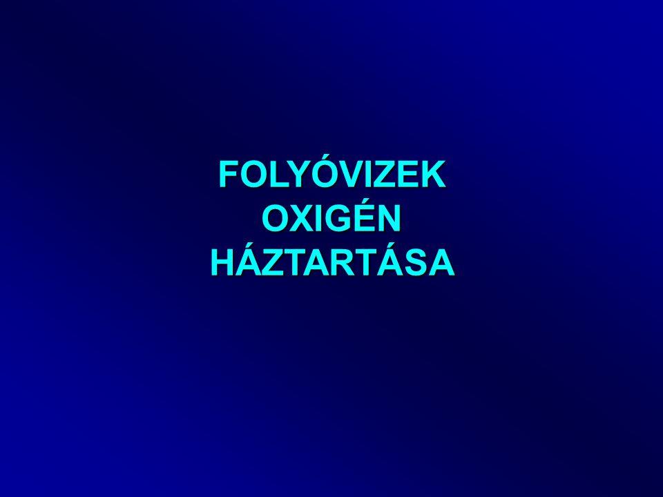 FOLYÓVIZEK OXIGÉN HÁZTARTÁSA