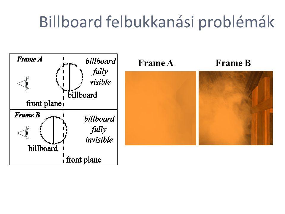 Frame AFrame B Billboard felbukkanási problémák