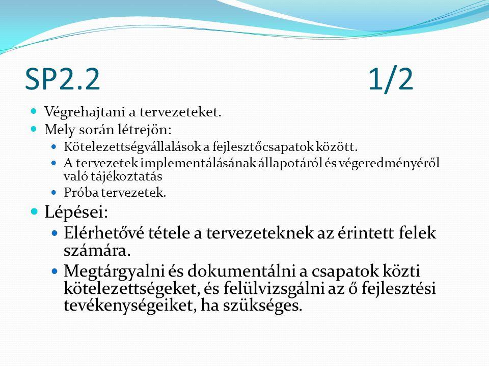 SP2.21/2 Végrehajtani a tervezeteket.