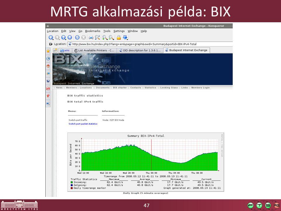 47 MRTG alkalmazási példa: BIX
