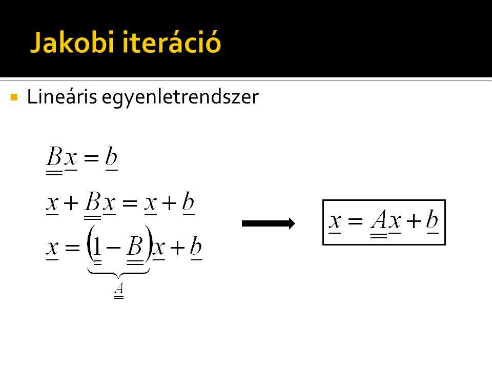  Lineáris egyenletrendszer