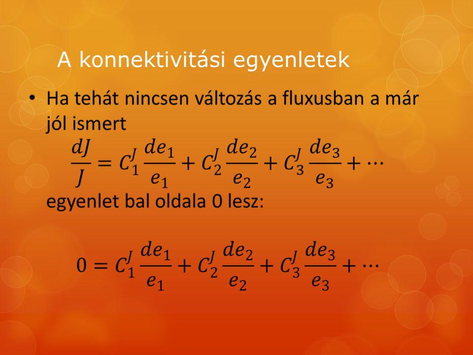 A konnektivitási egyenletek