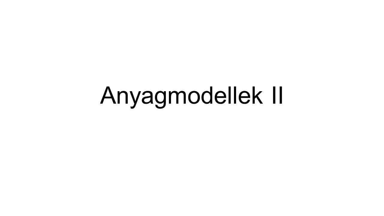 Anyagmodellek II